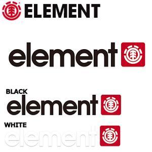 エレメント ELEMENT 2020 ロゴ アイコンカッティングステッカー 4.5cm×23.5cm ブラック ホワイト BLACK WHITE【正規品】 54tide