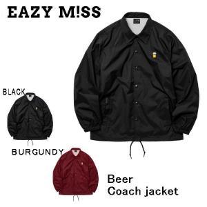 イージーミス EAZY M!SS Beer Coach jacket メンズ コーチジャケット スケートボード スケボー SK8 ストリートファッション スノーボード【正規品】|54tide