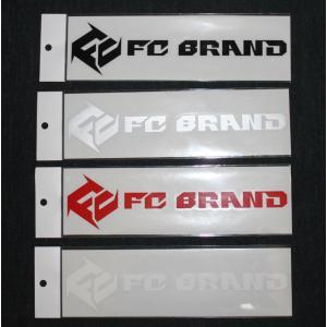ファーストチルドレン FIRST CHILDREN FC BRAND カッティングロゴステッカー 25cm×6.5cm ブラック ホワイト レッド シルバー ピンク|54tide
