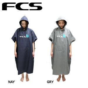 FCS マイクロファイバー お着替えポンチョ ポンチョ サーフィン Chamois Poncho2 グレー ネイビー|54tide
