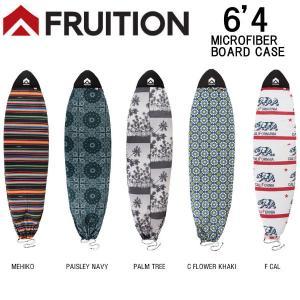 FRUITION フリュージョン 6'4 SHORT マイクロファイバーボードケース サーフボードケース ソフトケース ショートボード用 カバー サーフィン|54tide