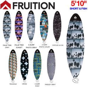 FRUITION フリュージョン 5'10 SHORT&FISH マイクロファイバーボードケース サーフボードケース ソフトケース ショートボード用 カバー サーフィン|54tide