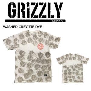 グリズリー GRIZZLY メンズ 半袖Tシャツ ティーシャツ トップス タイダイ M・L WashedGreyTieDye SURF N TURF TEE|54tide