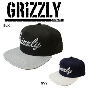グリズリー GRIZZLY メンズ キャップ スナップバック 帽子 Black Navy SUBALPINE SNAPBACK|54tide
