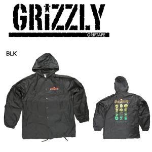 グリズリー GRIZZLY メンズ ジャケット ナイロンジャケット ウインドブレーカー アウター トップス M・L Black LEGACY JACKET|54tide