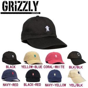 グリズリー GRIZZLY メンズ キャップ ローキャップ ストラップバック 帽子 8カラー OG BEAR LOGO DAD HAT|54tide