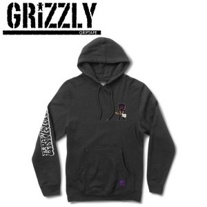 GRIZZLY グリズリー HENDRIX HOODIE メンズプルオーバーパーカー パーカー 長袖 S-XL BLACK|54tide