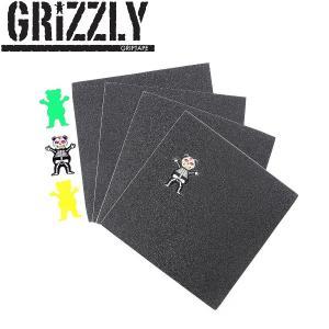 GRIZZLY グリズリー スケボー グリップテープ デッキテープ スケートボード SKATEBOARD Paul Rodriguez Grip Single Pack 3 Sheets|54tide