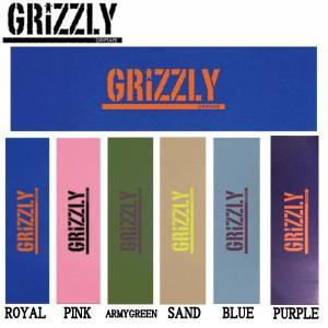 グリズリー GRIZZLY スケボー デッキテープ スケートボード スタンプ グリップテープ SKATEBOARD Stamp Griptape|54tide