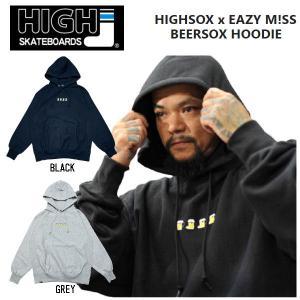 イージーミスXハイソックス EAZY M!SS X HIGH SOX   コラボパーカー HIGH SOX Collaboration Hoody メンズ スケートボード スケボー SK8 ストリート|54tide