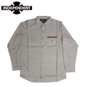 インデペンデント Independent  GRINDSTONE L/S WORK SHIRT ワークシャツ メンズ ロングスリーブ 長袖 ストリート スケボー|54tide