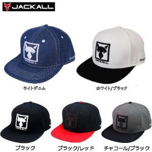 ジャッカル JACKALL スクエアロゴフラットキャップ 帽子 スナップバック 3カラー SQUARE LOGO FLAT CAP|54tide