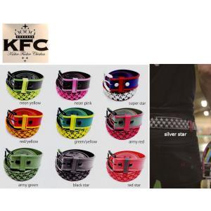 キッカーファッカーチキン KFC Kicker Fucker Chicken CANDY JELLY 目立つカラーラバーベルト ラバースタースタッズベルト|54tide