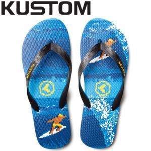 KUSTOM カスタム BLEND ART メンズビーチサンダル ビーサン 26・27・28cm KUS|54tide