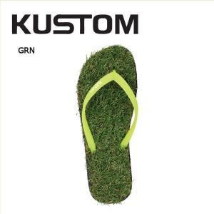 カスタム KUSTOM レディース ヌードルワイヤーサンダル サンダル ビーサン 23.5・24.5・25.5cm GRN KEEP ON THE GRASS|54tide