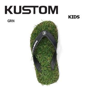 カスタム KUSTOM キッズ ヌードルワイヤーサンダル サンダル ビーサン 18・20・22cm GRN KID'S KEEP ON THE GRASS|54tide