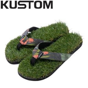 カスタム KUSTOM メンズ サンダル ビーサン ヌードルワイヤー 26cm・27cm・28cm PAM KEEP GRASS CANVAS|54tide