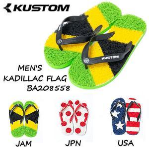 カスタム KUSTOM 2020春夏 メンズ KADILLAC FLAG  サンダル ヌードルワイヤーサンダル サンダル ビーサン 国旗 フラッグ 【正規品】|54tide