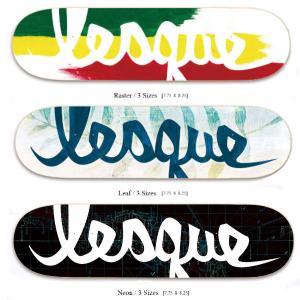 【LESQUE】レスケ Logo スケートボード  スケート デッキ SKATE DECK SK8 スケボー 板 7.75、8、8.25、3サイズ カラー ラスタ、リーフ、ネオン 54tide