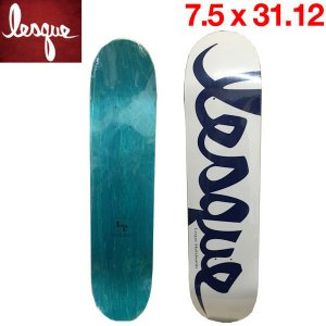 LESQUE レスケ TEAM Logoスケートボード 板 SK8 スケートデッキ 7.5×31.12 54tide