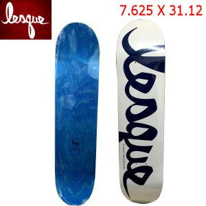 【LESQUE】レスケ TEAM Logo Navyスケートボード 板 OneColor 7.625×31.12|54tide