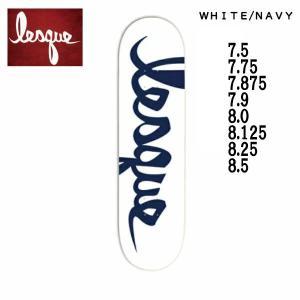 レスケ LESQUE TEAM Logo NAVY スケートボード  スケート デッキ SKATE DECK SK8 スケボー 板|54tide