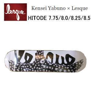 レスケ LESQUE Kensei Yabuno × Lesque HITODE コラボ スケートボード スケート デッキ SKATE DECK SK8 スケボー 板 正規品 54tide