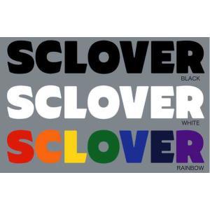 スクローバー SCLOVER3RIDERS LOGOステッカー カッティングステッカー|54tide
