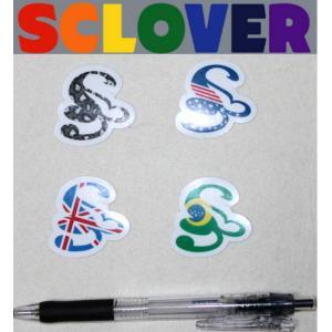 スクローバー SCLOVERLOGO ミニステッカー ブラジル USA UK ダークレオパード|54tide