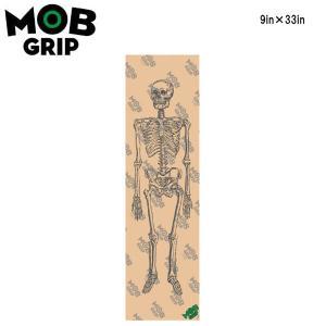 【MOB GRIP】モブグリップ SKELTON CLEAR 髑髏 骸骨柄 クリアー グリップテープ Grip Tape デッキテープ  スケートボード スケボー sk8 9×33インチ 【正規品】|54tide