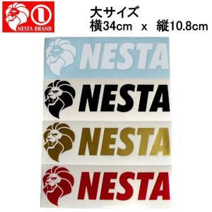ネスタブランド ステッカー NESTA BRAND 横ステッカー大サイズ|54tide
