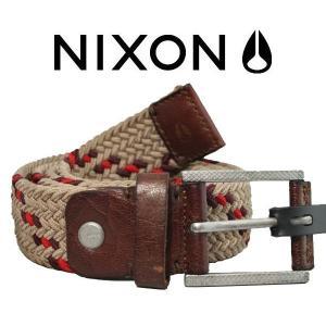 NIXON ニクソン2013秋冬 AMERICANA WEAVE BELT メンズベルト ストレッチ XS-S M-L HONEY BROWN-KHAKI|54tide