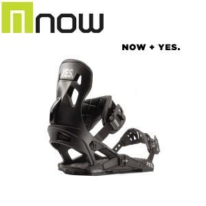 予約受付中 特典あり ナウ NOW メンズ レディース ビンディング スノーボード バイン S・M BLACK NOW+YES.|54tide