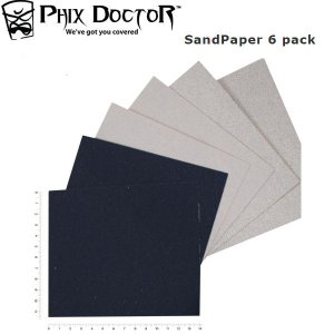 フィックスドクター PHIX DOCTOR サンドペーパー やすり リペアー サーフィン メンテナンス 修理 SandPaper 6 pack|54tide