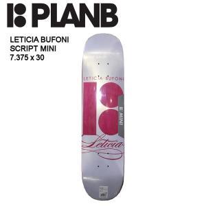 プランビー PLAN B】 デッキ 板 スケートボード キッズ ジュニア 子供サイズ 7.375×30 LETICIA SCRIPT MINI|54tide
