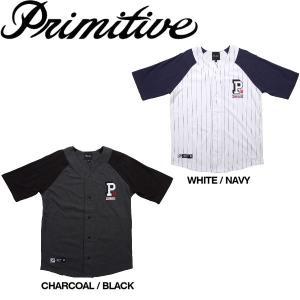 メンズ ベースボールシャツ ジャージ ラグラン 5分袖 Primitive プリミティブ COLLEGIATE BASEBALL JERSEY|54tide