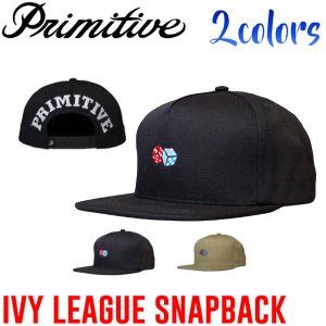 Primitive プリミティブ IVY LEAGUE SNAPBACK メンズキャップ スナップバック 5パネル 帽子 Black|54tide