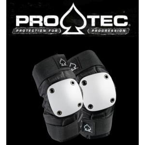 PRO TEC プロテックプロテクター スケートボード スノーボード パークエルボーパット ホワイト PARK ELBOW PADS