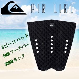 QUIKSILVER クイックシルバー The Pin Line デッキパッド サーフィン Black|54tide