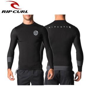 リップカール RIP CURL メンズ ウェットスーツ タッパー ラッシュガード サーフスーツ Aggrolite 1.5mm Long Sleeve Wetsuit Jacket|54tide