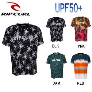 リップカール RIP CURL メンズ 半袖ラッシュ Tシャツ ラッシュガード トップス M・L・XL 4カラー UV TEE|54tide