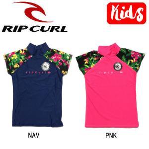 RIP CURL リップカール キッズ ガールズ ラッシュガード 半袖Tシャツ トップス スイムウェア KIDS 子供用|54tide