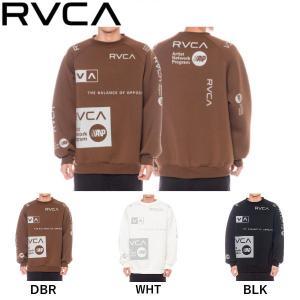ルーカ RVCA メンズ ALL OVER RVCA CREW トレーナー スウェット トップス サーフィン スケートボード|54tide