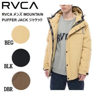 ルーカ RVCA メンズ MOUNTAIN PUFFER JACK ジャケット ダウンジャケット マウンテンジャケット フード アウター サーフィン スケートボード S/M/L/XL 正規品|54tide