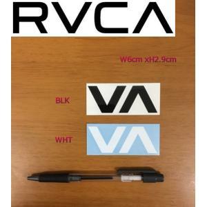 ルーカ RVCA ブランドロゴ カッティングステッカー サーフィン スノーボード スケートボードに 6cm x 2.9cm  ブラック ホワイト|54tide