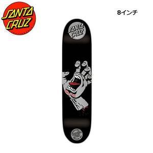 サンタクルーズ SANTA CRUZ スケボー デッキ スケートボード 板 Black Silver SMU Screaming Hand Skateboard Deck 8.0インチ|54tide