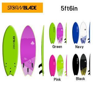 ストームブレード STORMBLADE サーフボード 板 ソフトボード ショートボード サーフィン 4カラー 5ft6 Swallow Tail Surfboard|54tide