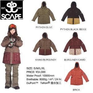 エスケープ SCAPE レディーススノージャケット スノーボードウェア 711-153-15|54tide