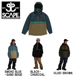 予約受付中 特典あり SCAPE エスケープ メンズ スノージャケット アノラックジャケット アウター スノーウェア スノーボード ANORAK JACKET|54tide