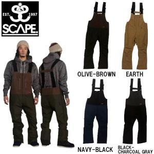 特典あり SCAPE エスケープ メンズ ビブパンツ つなぎ オーバーオール スノーパンツ ボトムス スノーウェア スノーボード BIB PANTS|54tide